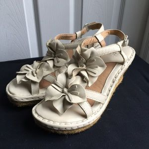 B.O.C Flowers Leather Sandals